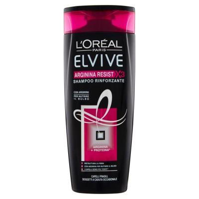L'OREAL, Elvive Arginin Resist X3 - Kräftigendes Shampoo für empfindliche Haare - 250 Ml