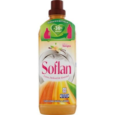Soflan, laine de détergent liquide et delicates bouffée de vanille 1 l