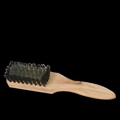 Brosse en acier et soie avec manche