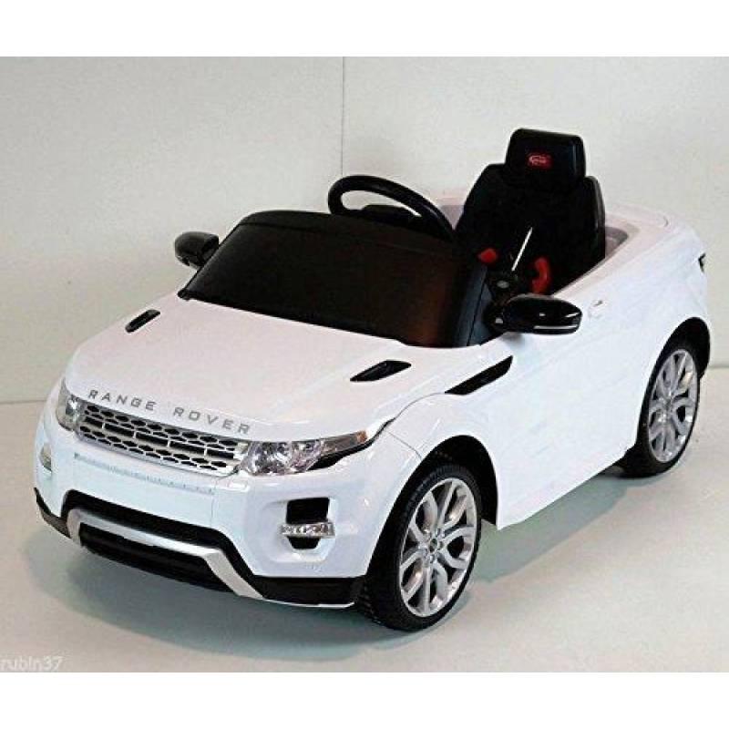 Elektroauto für Kinder, weißer Land Rover, mit Fernbedienung und MP3