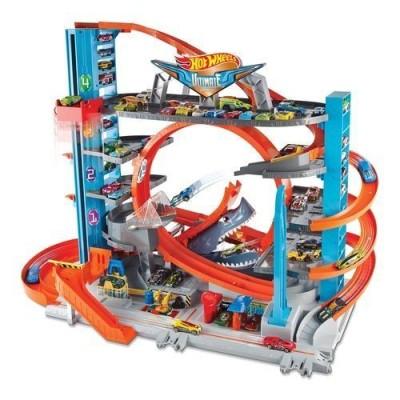 HOT WHEELS Ultimative Garage mit Hai-Angriff, inkl. 2 Spielzeugautos