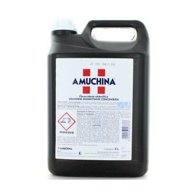 Amuchina, flüssiges Desinfektionsmittel, konzentrierte Lösung, tank 5 Liter