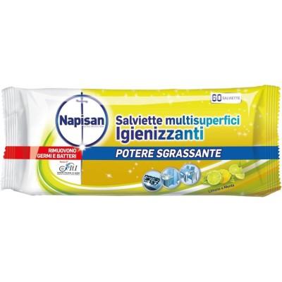 Multisuperficient Wipes Lemon Sanitizer und Mint 60 Stück, napisan