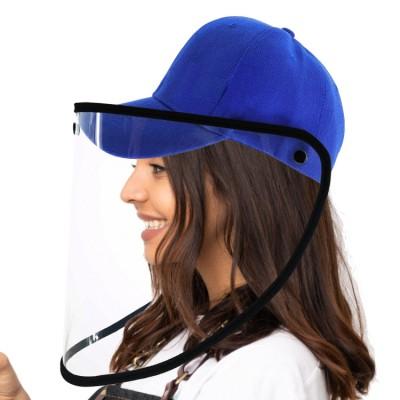 Augenschutz, Gesichtsvisier mit Kappe, blau