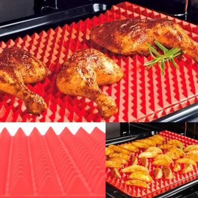 Tapis de cuisson en silicone pour une cuisine saine, professionnelle et résistante à la chaleur, 2 pièces