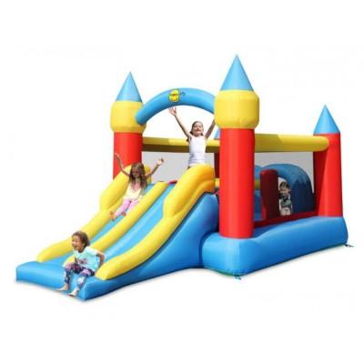 Großes Schloss, aufblasbar, Doppelrutsche, Kinderspiel, Sprungtuch, Happy Hop, 460m, 180kg