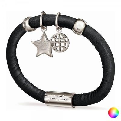 Armband für Damen, Folli Follie, Schwarz, 16 cm, aus Leder