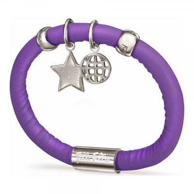 Armband für Damen, Folli Follie, Lila, 16 cm, aus Leder