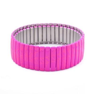 Damenarmband, Folli Follie, lila, elastisch, stahl, 6 cm
