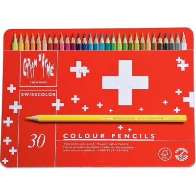 Crayons colorés Caran de ache 30 pièces