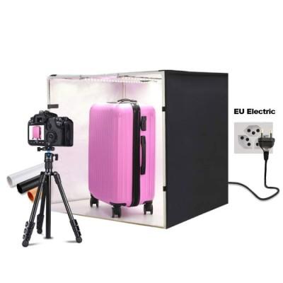 Fotostudio mit LED-Leuchten, Größe 80 x 80 x 80 cm