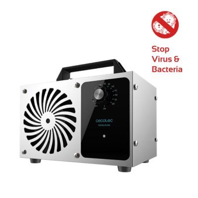 Ozongenerator, TOTALPURE 4000 120W, 2 in 1 und Ionisator für Luft, Wasser und Lebensmittel, entfernt Viren, Cecotec