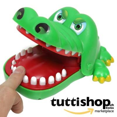 Dentiste crocodile, ne touchez pas la dent qui blesse autrement morsures, jouet, taille 15 cm