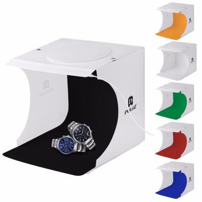 Mini portable Fotostudio mit LED-Leuchten und Loch über 24 x 23 x 23 cm 550 ML