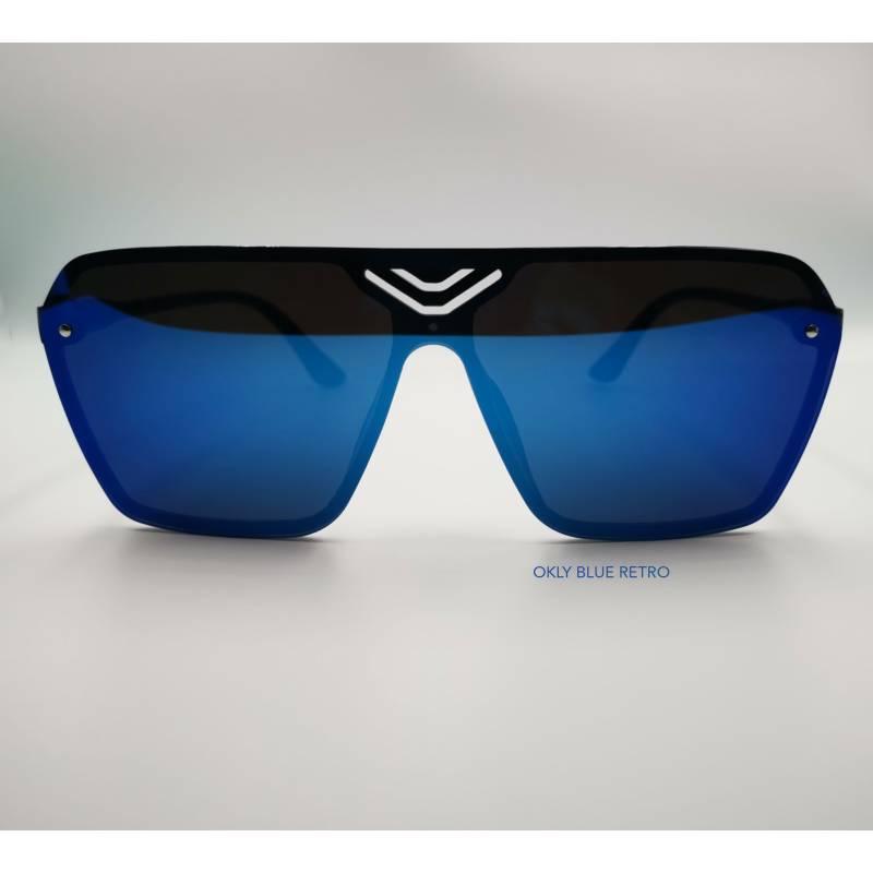 Okly Retrò Sunglasses, occhiali da sole Uomo Donna, blu