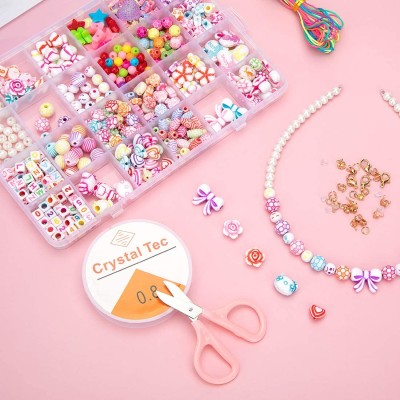 Kits de perles de bricolage pour la fabrication de bijoux Bracelets et colliers