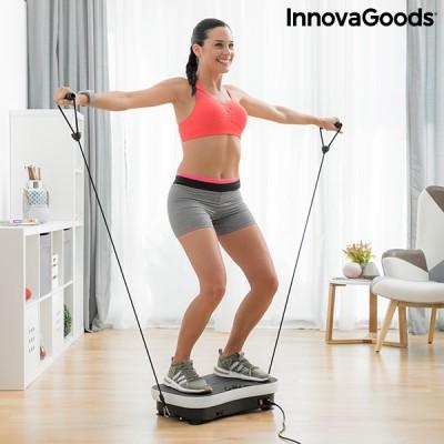 Plateforme vibrante avec accessoires pour les exercices de fitness.