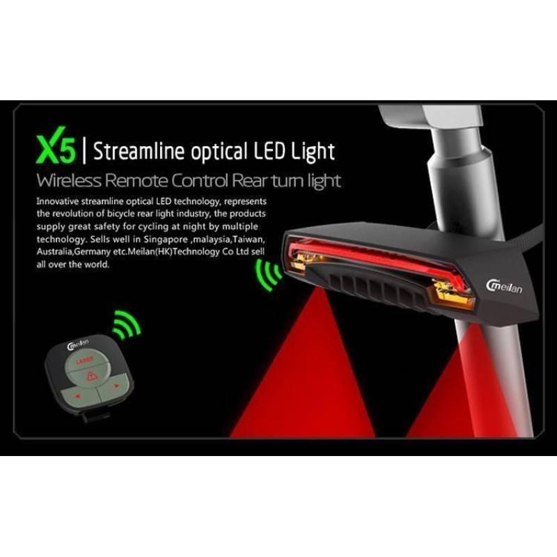 Indicatore luminoso Frecce e segnalatore strada laser per bicicletta bluetooth