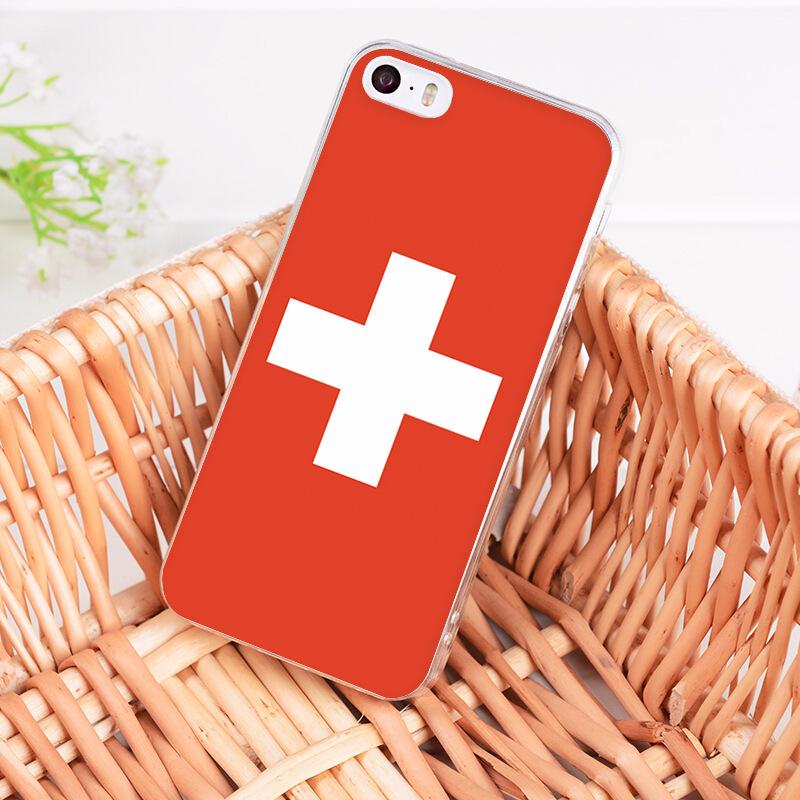 Schweizer Cover Wappen für Apple iPhone 7 8 9 X Plus