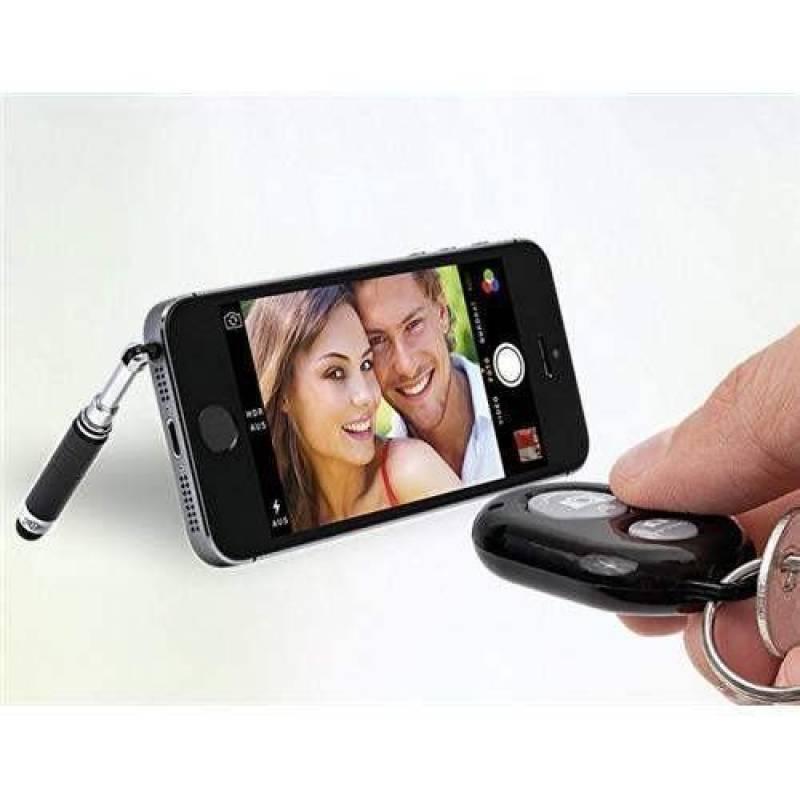 Selfie Maker Noir avec Bluetooth retardateur et de la colonne télescopique