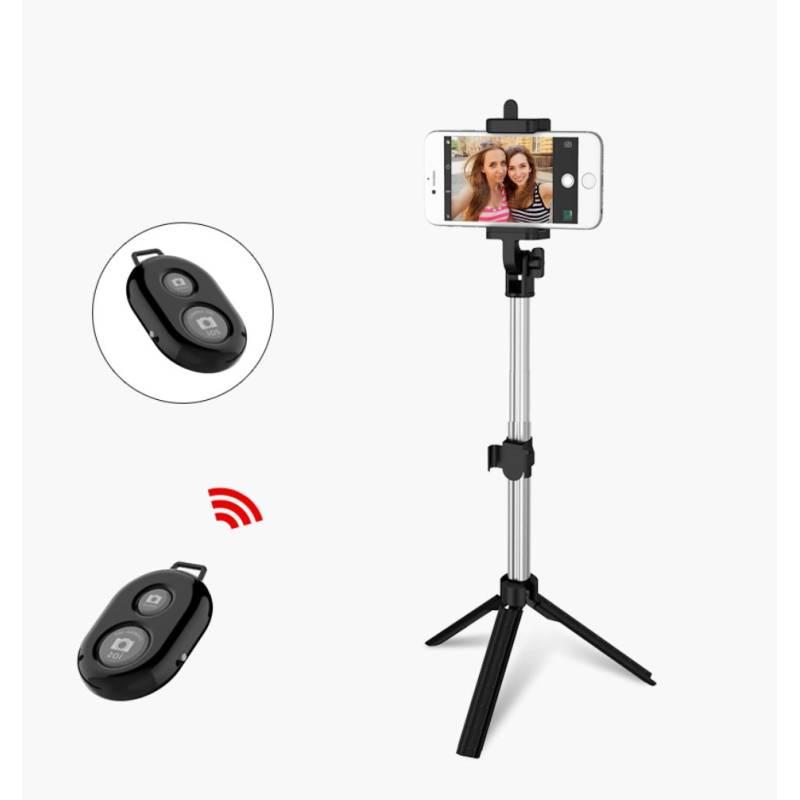 Stativ selfie-Stick für Apple iPhone und Samsung mit Bluetooth-Fernbedienung