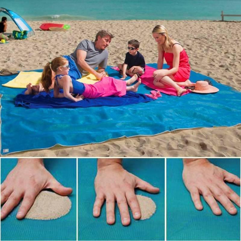Sand Freie Matte Teppich, Sand Proof frei Strand Matte Den Strand für Picknick,Camping,Outdoor Events, Blau un Rosa