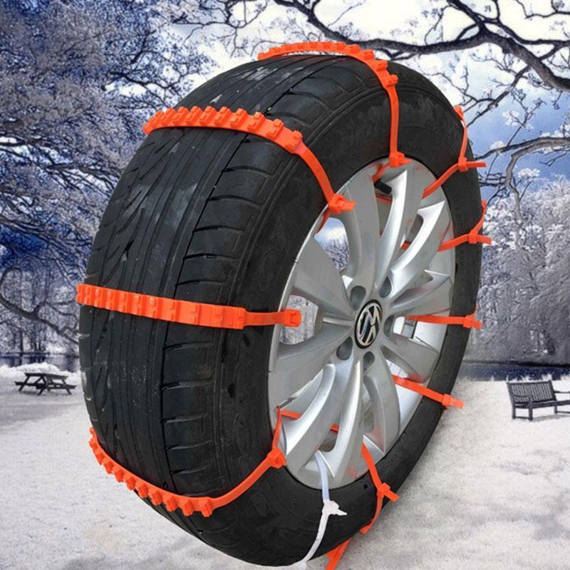 Universelle, rutschfeste Kunststoffketten für alle Reifen - 10 stück