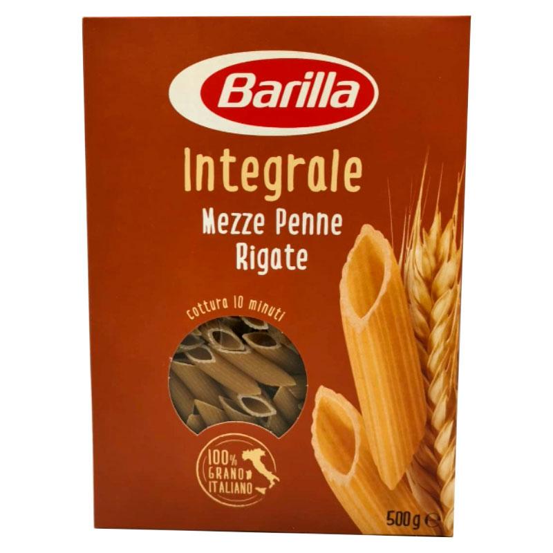 Barilla Pasta Ganze Mahlzeit halb gestreifte Federn von Hartweizen Semolla, 500 g