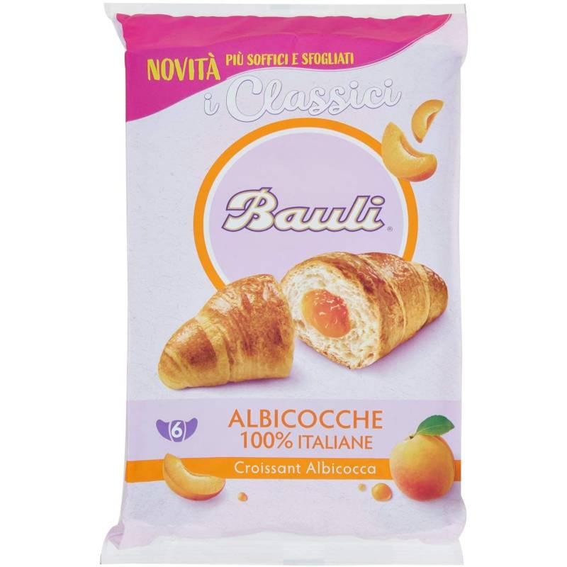 Bauli Croissant Aprikose mit Aprikosen-Füllung 100% italienisch, 6 x 50 g Packung