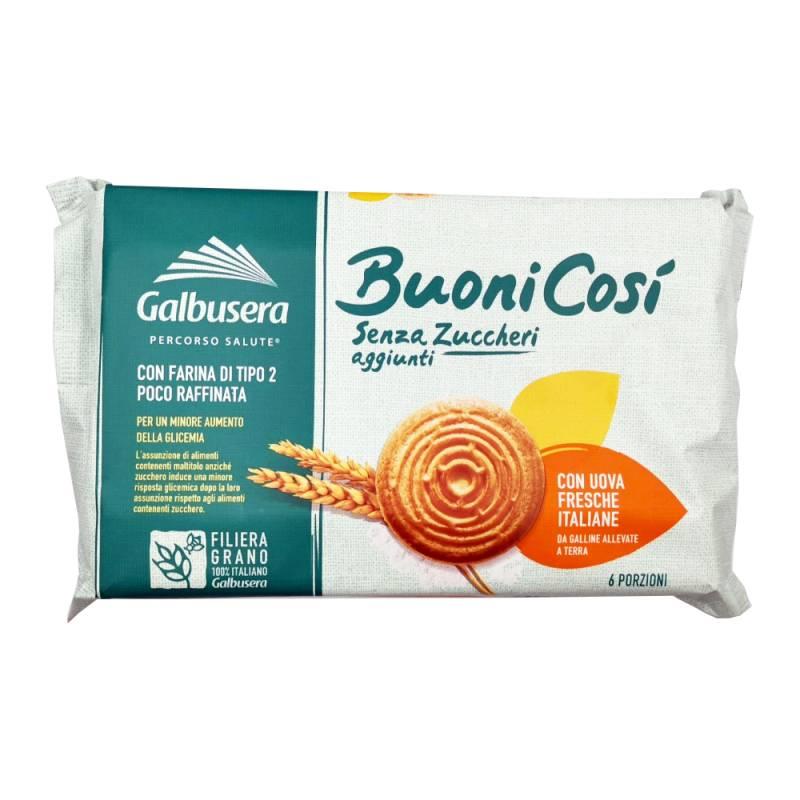 Galbusera Buoni Così, ohne Zuckerzusatz, Mehl Typ 2, frische italienische Eier, 330 g