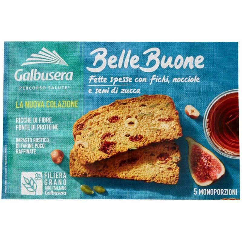 Galbusera Fette Biscottate Frühstücksfeigen und Haselnüsse Bellebuone, 200g