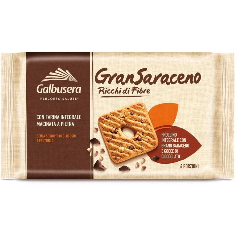 Galbusera GranSaraceno Vollkorn Mürbegebäck mit Schokotropfen und Mehltyp 2
