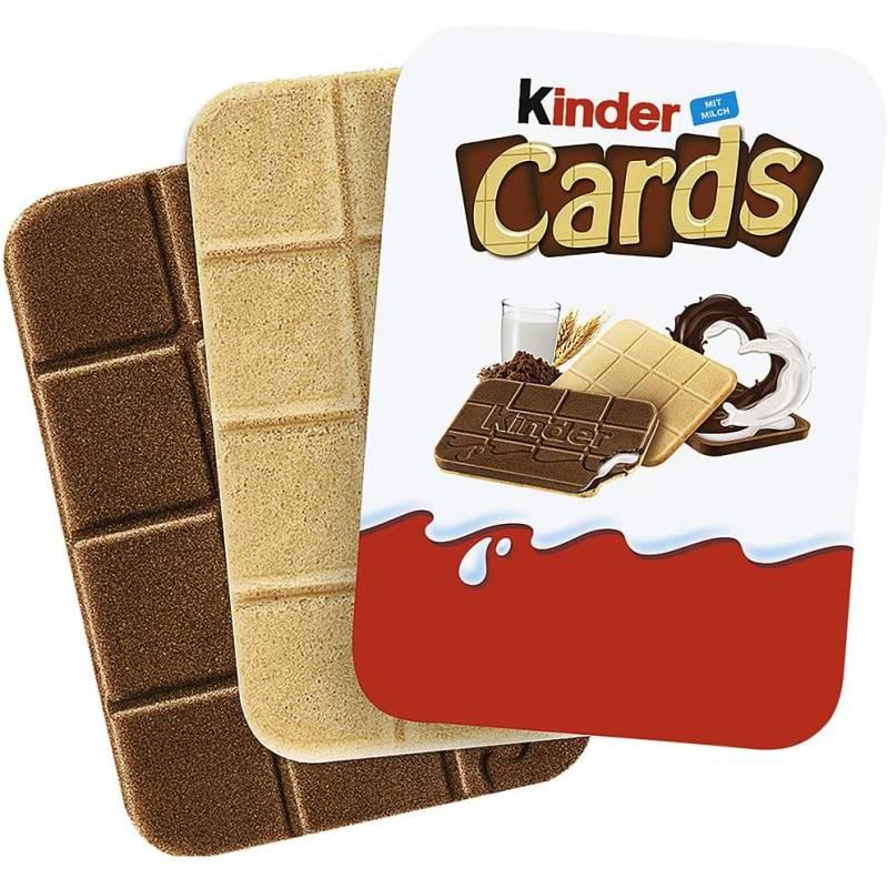 Kinder Cards T2x30 Waffelkekse mit Sahne-, Milch- und Kakaofüllung