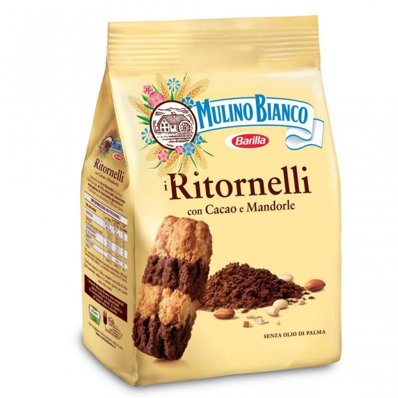 Mulino Bianco Biscotti Frollini Ritornelli mit Kakao und Mandeln, 700 gr