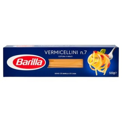 Pasta Barilla, Spaghetti Varmicelli n. 7 - 500 gr