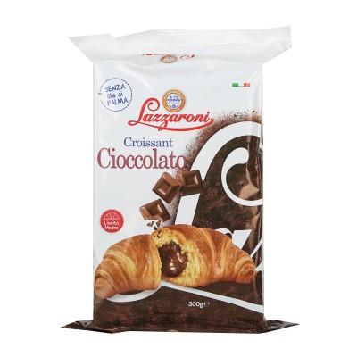 Schokoladen Croissants, Lazzaroni, ohne Palmöl, 300g Packung, 6-Pack 50g Croissants.