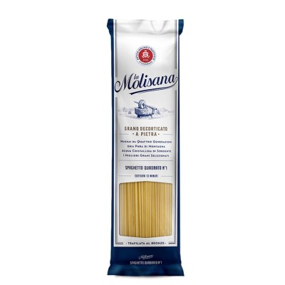 Spaghetti Quadrat gezeichnet Bronze Pasta Hartweizengrieß 1Kg La Molisana