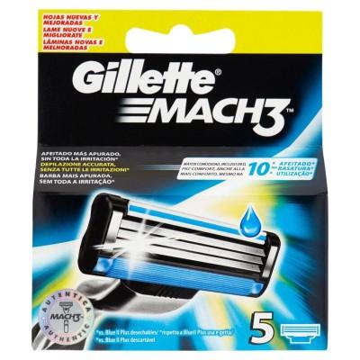 Gillette Mach3 Standard Klingen für Herrenrasierer 5-tlg