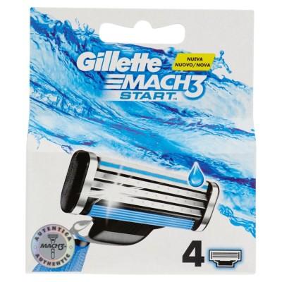 Gillette Mach3 Startklingen für Herren-Rasierer 4 Nachfüllpackungen