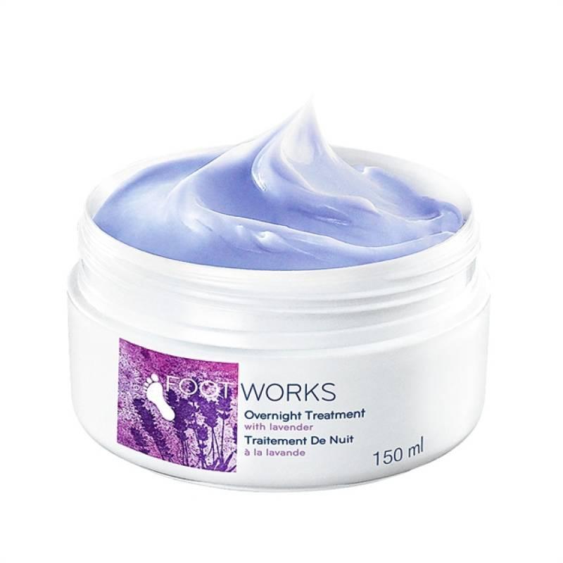 AVON FOOT WORKS Lavendel Wohltuende Fußcreme für die Nacht