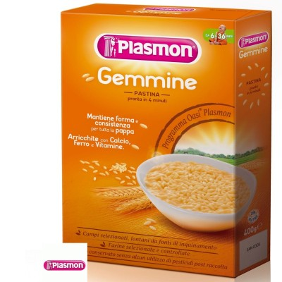 Pastina Gemmine 340 gr Plasmon