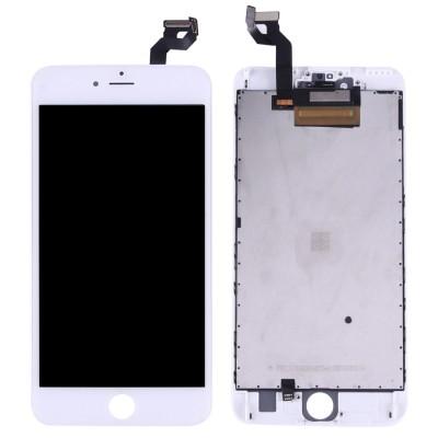 LCD-Display für Apple iPhone 5G weiß + Rahmen und Glas, Gear Kit für Geschenk